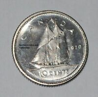 LOW MINTAGE CANADA 1970 10 CENTS UNC CANADIAN DIME