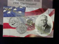 1996 W ROOSEVELT DIME SINGLE IN MINT CELLO   IN THE USA