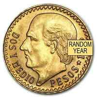 MEXICO GOLD 2 1/2 PESOS AGW .0603  RANDOM YEAR    SKU 1047
