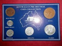 1961 AUSTRALIAN PRE DECIMAL 6 COIN SET IN SPECIAL CARD  VERY NICE A PERFECT GIFT