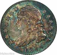 1814 NGC MINT STATE 66  10C. CAPPED BUST DIME JR-2   FINEST KNOWN FOR VARIETY