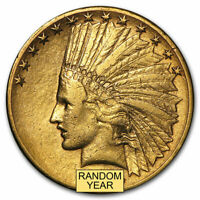 $10 INDIAN GOLD EAGLE  CLEANED    SKU 23203