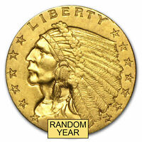 $2.50 INDIAN GOLD QUARTER EAGLE AU  RANDOM YEAR    SKU 4025