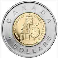 2011 $2 BOREAL FOREST CANADIAN TOONIE TWO DOLLAR COIN SEALED