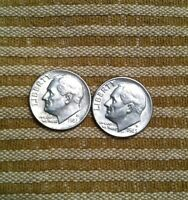 1982 D AND 1983 D ROOSEVELT DIMES BOTH COINS