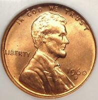 1960 D LINCOLN MEMORIAL CENT SMALL DATE 1C   NGC MS67 RD   PRICE GUIDE $840