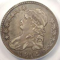 1814 BUST HALF DOLLAR 50C   ANACS XF45 EF45    EARLY DATE COIN!