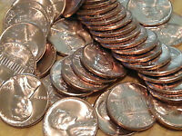1968 S LINCOLN MEMORIAL CENTS  ROLL  50 COINS  95 COPPER  BU  RED