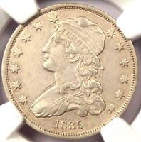 1835 CAPPED BUST QUARTER 25C   NGC AU DETAILS    EARLY DATE COIN IN AU!