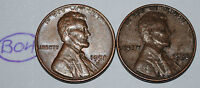UNITED STATES 1958 AND 1958 D WHEAT PENNY 1 LINCOLN CENT USA COIN LOT B04
