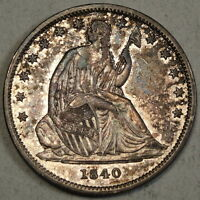 1840 SEATED LIBERTY HALF DOLLAR REVERSE OF 1839 SMALL LETTERS ORIGINAL AU