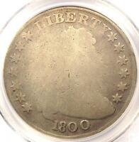 1800 DRAPED BUST SILVER DOLLAR $1   PCGS POOR/FAIR DETAILS    CERTIFIED COIN