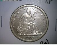 1843 O SEATED LIBERTY SILVER HALF DOLLAR   EXTRA FINE