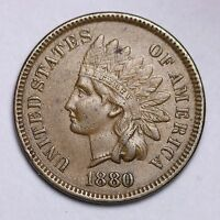 1880 INDIAN HEAD CENT PENNY CHOICE UNC