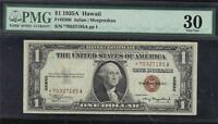 FR2300SERIES 1935A HAWAII $1 STAR NOTE.GRADED BY PMG FINE 30.