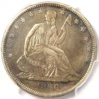 1866 S NO MOTTO SEATED LIBERTY HALF DOLLAR 50C   PCGS VF DETAILS    VARIETY