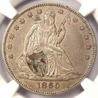 1860 O SEATED LIBERTY HALF DOLLAR 50C   CERTIFIED NGC XF45 EF45    COIN