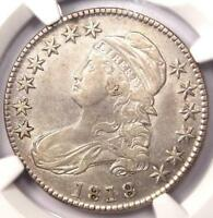 1818 CAPPED BUST HALF DOLLAR 50C   NGC XF45 EF45 PQ    COIN   NICE LUSTER