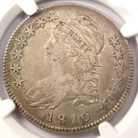1810 CAPPED BUST HALF DOLLAR 50C O 101   NGC VF35 PQ    EARLY DATE COIN