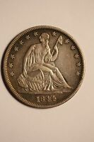 1844 PHILADELPHIA 50C SEATED LIBERTY HALF DOLLAR