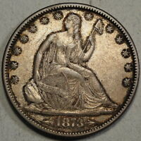 1873 WITH ARROWS SEATED LIBERTY HALF DOLLAR  WB 107 SMALL ARROWS  0707 28