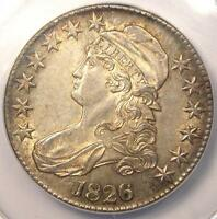 1826 CAPPED BUST HALF DOLLAR 50C O 102. ANACS AU58 DETAILS    CERTIFIED COIN