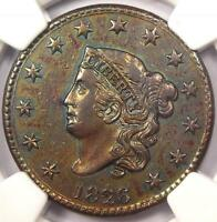 1826 CORONET MATRON LARGE CENT 1C   NGC XF DETAILS EF    CERTIFIED COIN