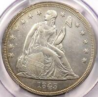 1843 SEATED LIBERTY DOLLAR $1   PCGS AU    EARLY DATE COIN