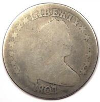 1807 DRAPED BUST HALF DOLLAR 50C - AG DETAILS -  EARLY COIN
