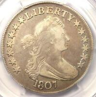 1807 DRAPED BUST HALF DOLLAR 50C - PCGS F15 CHOICE FINE -  CERTIFIED COIN