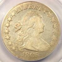 1805 DRAPED BUST HALF DOLLAR 50C O-112 - ANACS F15 DETAILS -  CERTIFIED COIN