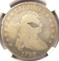 1799 DRAPED BUST SILVER DOLLAR $1   NGC GOOD DETAILS    CERTIFIED COIN