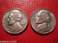 1966 P1968 S JEFFERSON NICKEL CIRCULATED3409
