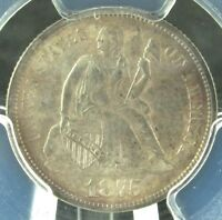 1875 SEATED LIBERTY DIME PCGS MS64