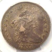 1807 DRAPED BUST HALF DOLLAR 50C - PCGS VF DETAILS -  DATE - CERTIFIED COIN