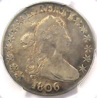 1806 DRAPED BUST HALF DOLLAR 50C - PCGS FINE DETAILS -  CERTIFIED COIN
