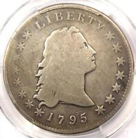 1795 FLOWING HAIR SILVER DOLLAR $1 2 LEAVES   PCGS GOOD DETAILS    COIN