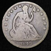 1849 O SEATED LIBERTY HALF DOLLAR CHOICE VG  E322 EN