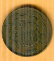 1864 TWO CENT PIECE  FINE CONDITION KP713