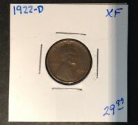 1922 D 1C LINCOLN CENT