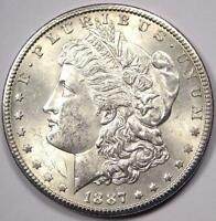 1887-S MORGAN SILVER DOLLAR $1 -  UNCIRCULATED UNC MS -  DATE COIN