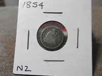 1854  SEATED HALF DIME GOOD????    N2