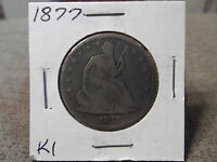 1877 SEATED HALF DOLLAR