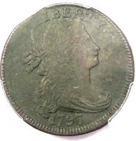 1797 REVERSE OF 1795 GRIPPED EDGE DRAPED BUST LARGE CENT 1C - PCGS VF - CLIP
