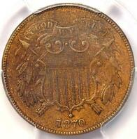 1870 TWO CENT PIECE 2C - PCGS AU DETAILS -  DATE CERTIFIED COIN