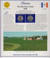 2004 IOWA STATE QUARTERS/COMMEMORATIVE STAMPS  IN USA