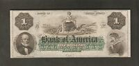 THE BANK AMERICA $ 1 DOLLAR  APRIL 23RD 1860 STATE OF RHODE ISLAND