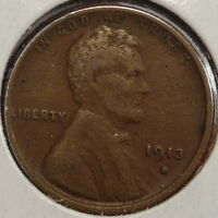 1913-S LINCOLN CENT, FINE, DISCOUNTED JUST  A BIT  1230-13