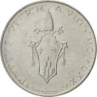 VATICAN CITY 100 LIRE 1970 KM 122 MS63 STAINLESS STEEL 27.9 8.00