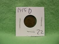 US 1915 D LINCOLN WHEAT PENNY   PROTECTIVE 2 X 2